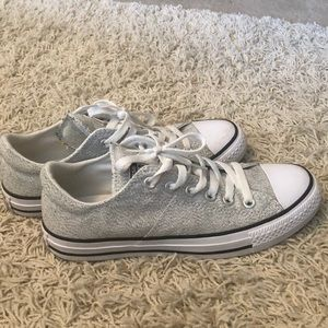 Grey and white Converse